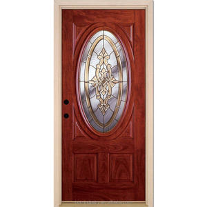 Oval glass entry wood door inserts, main entrance door, latest design interior door room door
