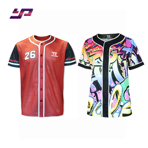 Custom Your Own Design Printing Baseball Shirts Best Selling team wear All sizes Full button Cheap Price Baseball jersey