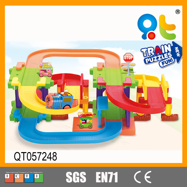 Intelligent Electric Track Train Puzzle Plastic Block Toy for Kids