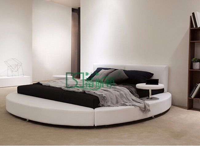 Foshan elegant ronmantic wedding circle bed furniture for European beds for sale