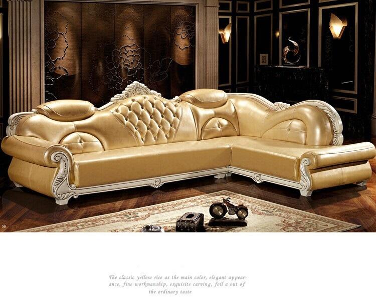 Luxury Leisure Leather Sofa Set European Fashion Living