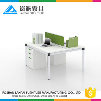 Ds05a Modern Fancy Office Stainless Steel Partner Standing Work