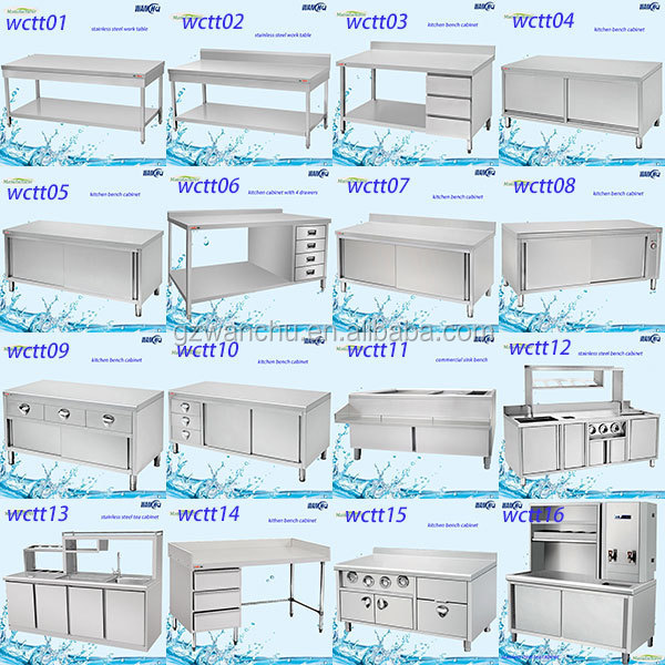 File Kabinet Stainless Steel Dapur Bench Komersial Untuk Dijual