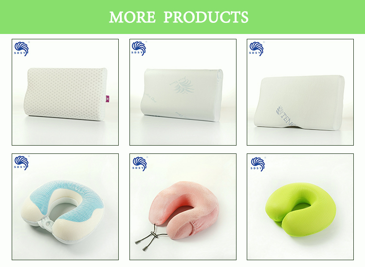 High quality custom car seat travel neck support pillow with gel