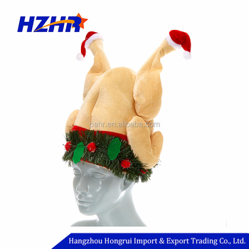 75fbb8e80c178 Funny Plush Roasted Festival Party Thanksgiving Day Turkey Hat Moving Turkey  Hat