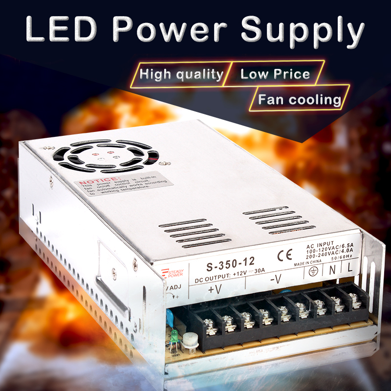 350W CE Approved 12V 30A DC industrial switching power supply 12 volt 29a switching adapter S-350-12