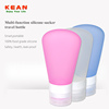 Three color hotel cosmetic soft plastic cosmetic silicone tube