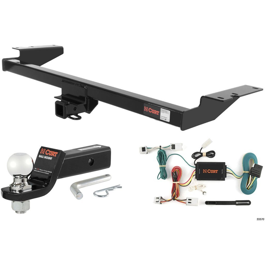 """CURT Class 3 Hitch Tow Package with 2-5/16"""" Ball for 2004-2009 Nissan Quest"""