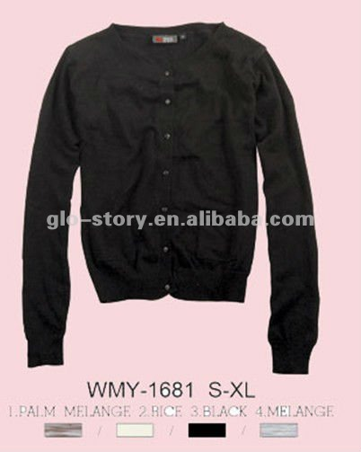 lady black color 12GG cardigan sweater for 2013