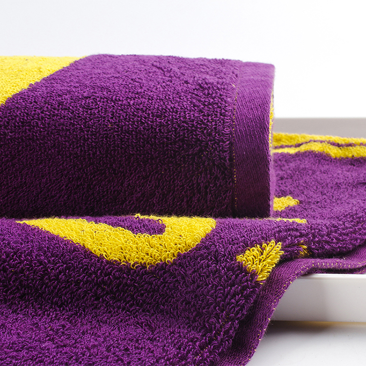 100% cotton quick dry jacquard sport towel high quality sports towel from factory