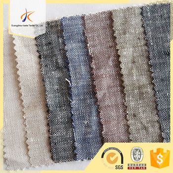 180gsm Solid Plain Dyed Plaid Style 100% Linen Woven Fabric For Cushion  Cover/sofa