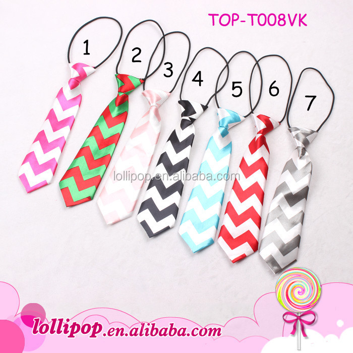 2015 new style popular handmade assorted cololr cheap boys chevron tie