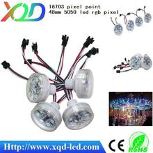 Waterproof full color advertising led rgb pixel light 48mm 8205 ic auto control for amusement rides