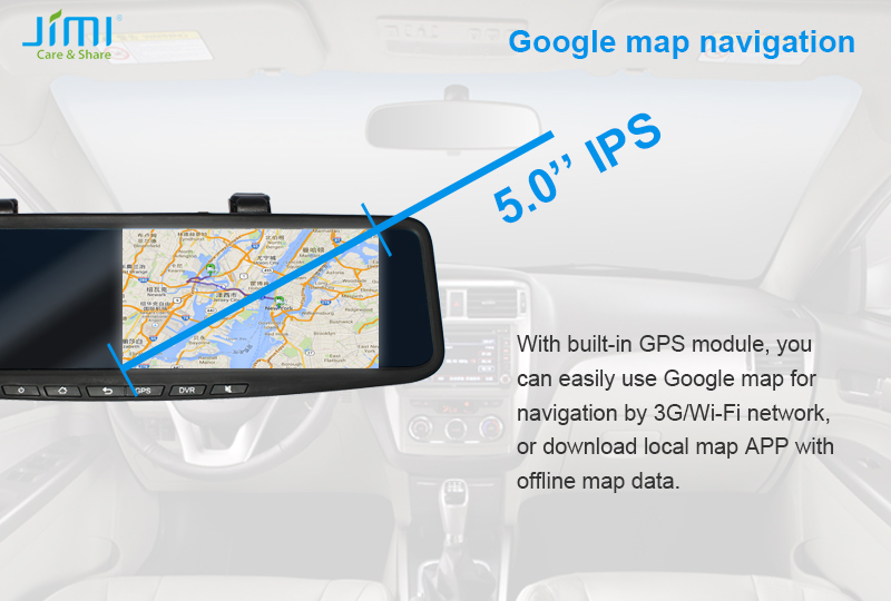 Jimi Mdvr Gps 3g Wifi Andriod 1080p Manual Rearview Mirror