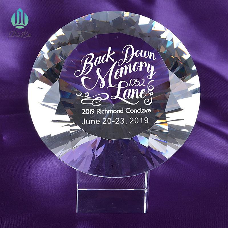 Factory sale DILU Large Shinning k9 Crystal Glass Stone Diamond/bulk glass crystal fake glass diamond for Wedding Paperweight