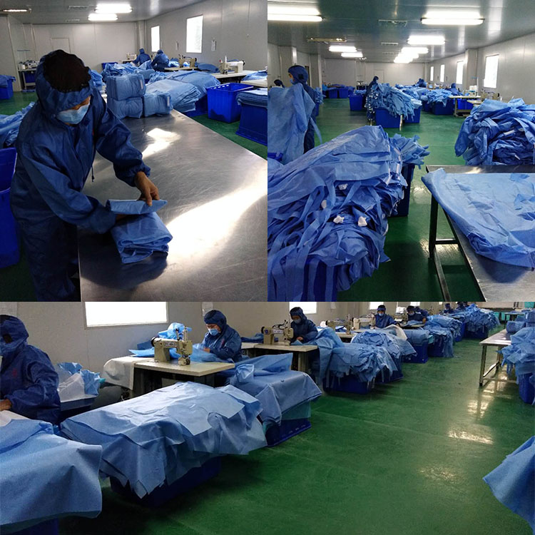 Medical Hospital Reinforced Sterile Surgical Gown