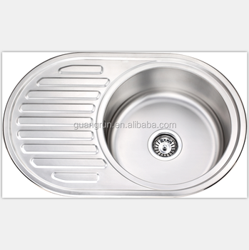 Rv,Caravan,Yacht,Boat,Train Stainless Steel Washing Basin Kitchen Sink  Round Shape With Drain Board Gr-y619 - Buy Yacht Used Small Kitchen Corner  ...