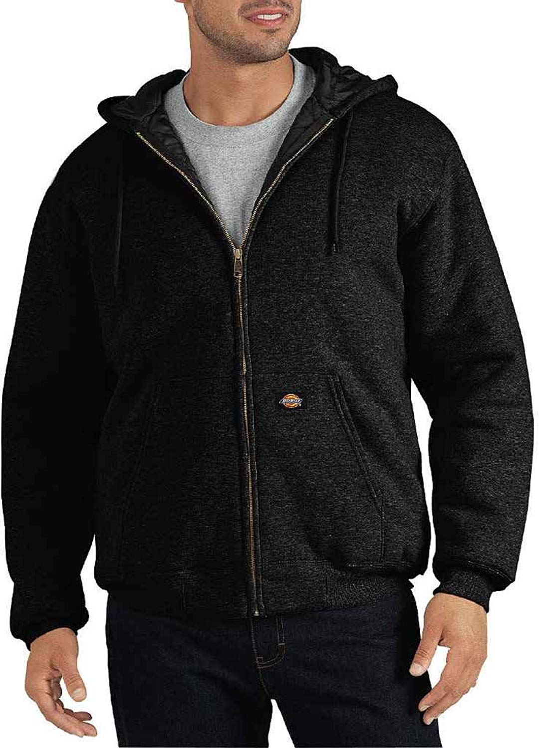 6240332e94a Get Quotations · Dickies Men s Heavyweight Quilted Fleece Hoodie