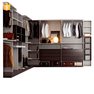 Walk in closet modular wardrobe bedroom furniture from Foshan supplier