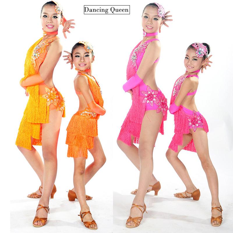 Buy Child Latin Dance Dresses For Sale 6 Colors Cha Cha Rumba Samba Ballroom Tango  Dance Clothing Kids Dance Costume Girls Dancewear in Cheap Price on ... 5f1b523b61c2