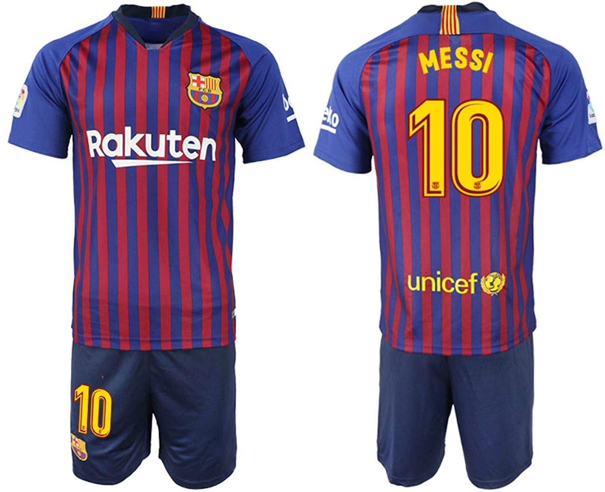 ce14aff8634 Get Quotations · 2018-2019 Messi  10 Season Barcelona Home Soccer Jersey  Mens Color Blue
