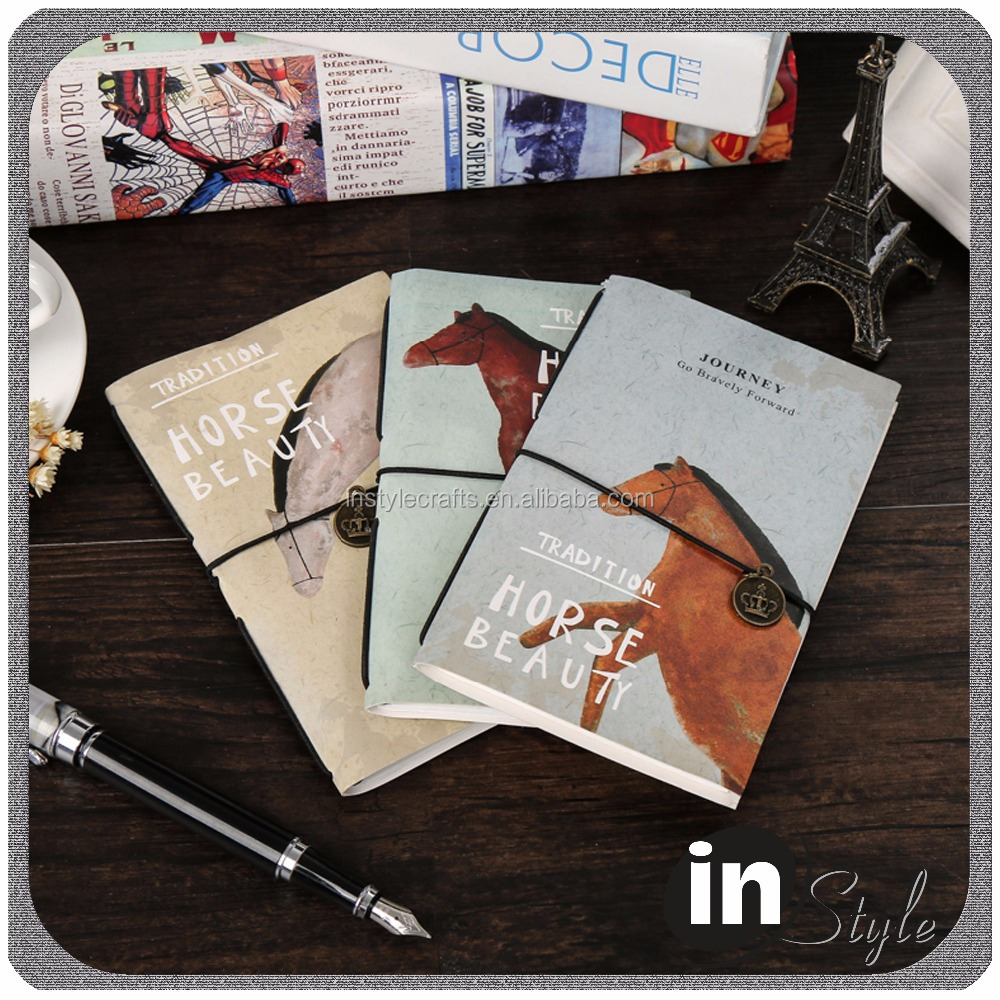 Horse beauty theme paper cover notebook wonderful design printing cheap sale bulk