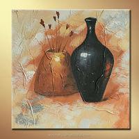 Hanging ceramic jar Still life handmade oil paintings
