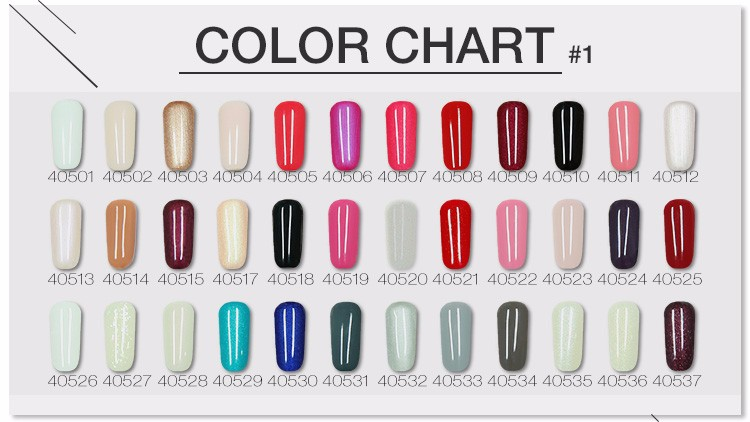 Cco Impress For Nail Art Polish Gel Chart Color