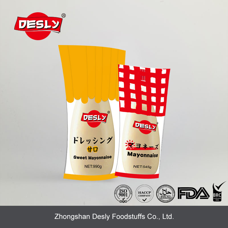 Hot sale Japanese sweet mayonnaise plastic bottle for supermarket