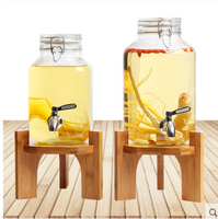 large size glass mason jar beverage juice dispenser with stainless steel tap 2.5L/4L/8L