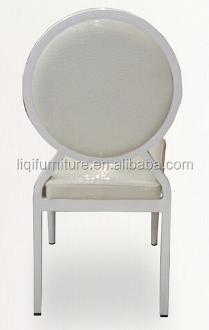 factory directsale quality white faux leather stacking wedding chair in aluminum QL-D661