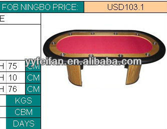 Oval Blackjack Table With Chip Tray And Round Leg