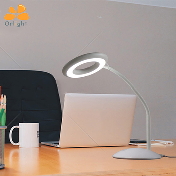 Sewing Table Lamp With Magnifier Student Led Desk Light