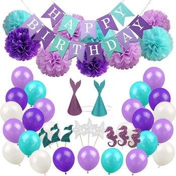 Brillo Sirena Cola Sirena Fiesta Trullo Púrpura Feliz Cumpleaños De La Sirena Decoraciones Kits Para Las Niñas Buy Sirena Partido Favor