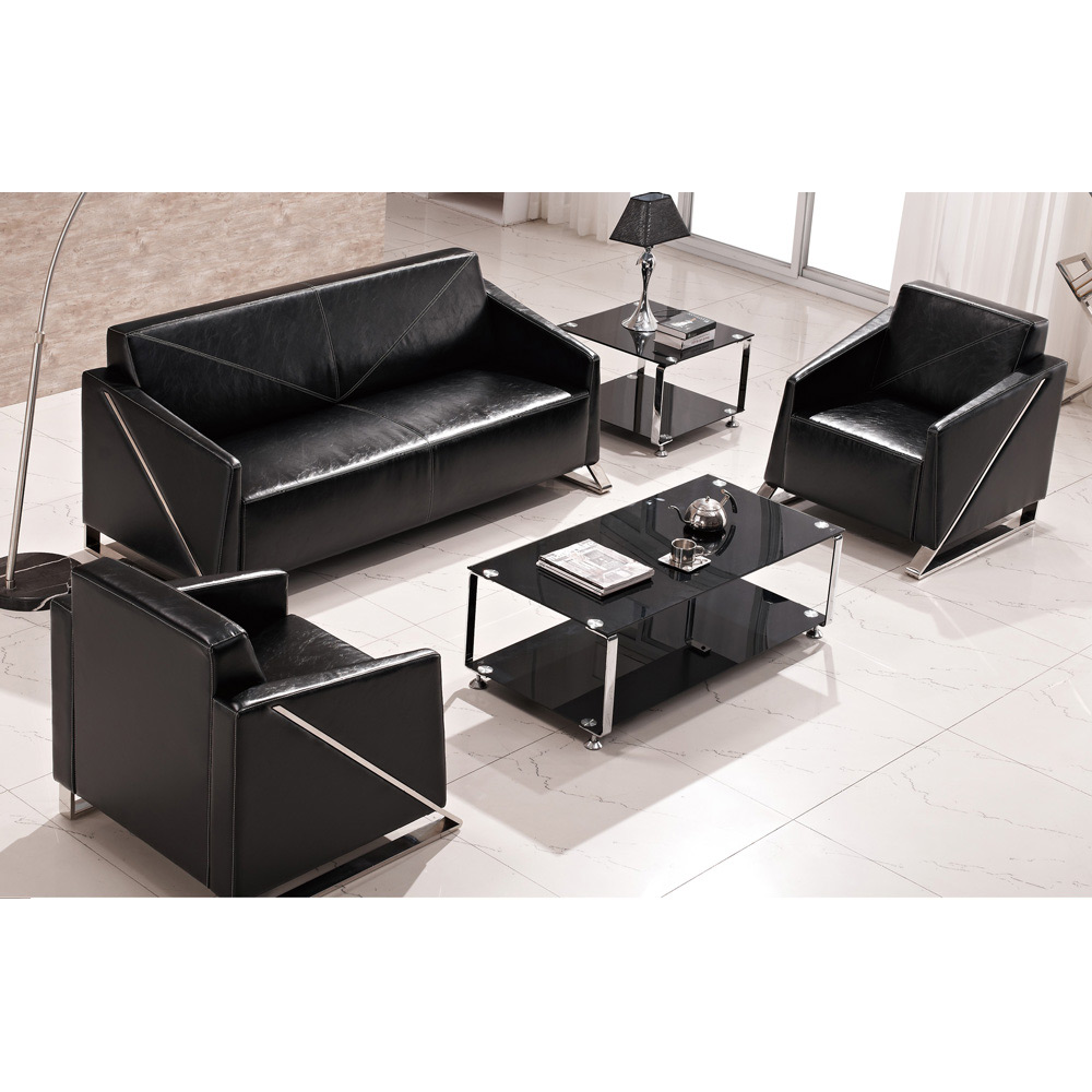 Incroyable Good Quality Black Leather Commercial Office Couch Sofa Set With Metal Legs    Buy Black Leather Office Sofa,Black Leather Commercial Sofa,Commercial  Couch ...