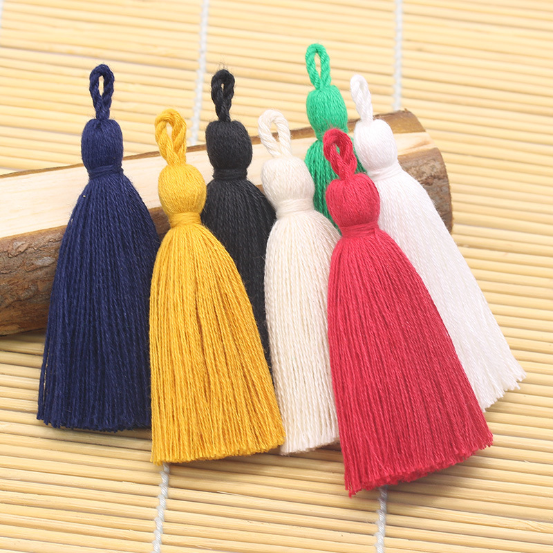 Wholesale 8CM More Colors Cotton Tassel Lace Trim For Decoration
