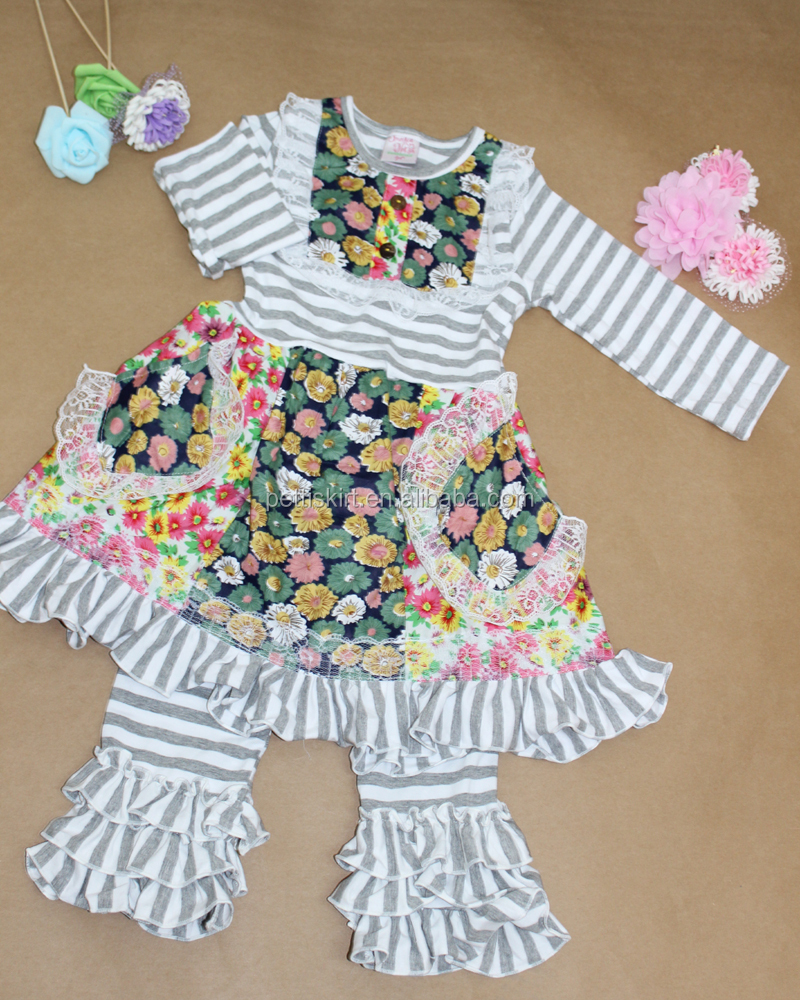 Wholesale Children S Boutique Clothing Baby Girls Ruffled