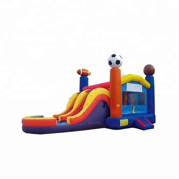 Colorful inflatable jumping castle combo pool