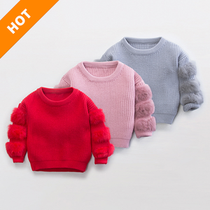 43c734d9c2ead Baby Girl Red Knitted Sweater Wholesale