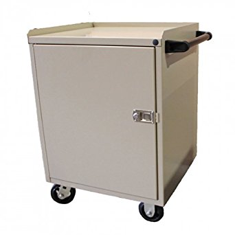 """Valley Craft F89611TS Single Door Modular Mobile Cabinet with 5"""" Caster, 21"""" Length x 24"""" Width x 33"""" Height, Tropic Sand"""