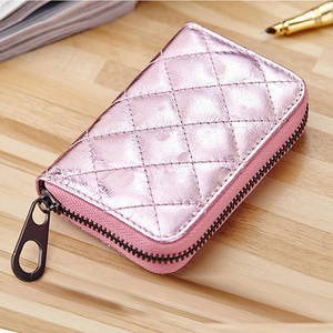 New Fashion Card Holder Women's Leather Guangzhou Multi Card Holder Zip Lock Case Bag