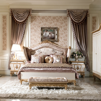 0057 Antique French Style Bedroom Furniture,Royal Classic Cream White  Country Design Bed Set - Buy Bed Set Furniture,Furniture Bedroom,French Bed  ...