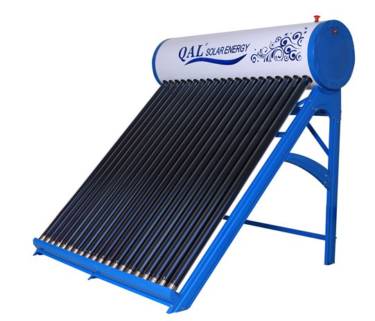 Portable Solar Water Heater : Solar powered portable water heater with copper coil