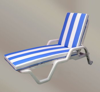 Plastic Beach Chair Outdoor Furniture Sun Lounger Bed