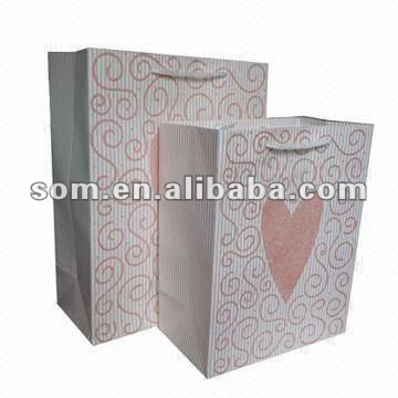 Glitter Eco-friendly recycle paper Bag