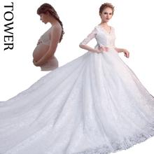 427fb745e2b3e منتفخ فساتين الزفاف الأمومة فساتين الزفاف تركيا اسطنبول