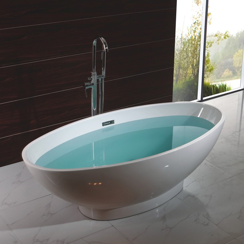 Aqua domol freestanding acrylic bathtub buy freestanding for Best acrylic bathtub to buy