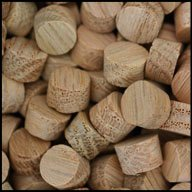 "WIDGETCO 3/8"" Oak Wood Plugs, Face Grain"