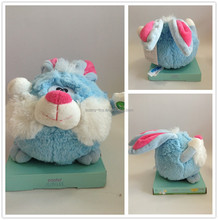 Crazy Rabbit singing and rolling plush rabbit Easter day plush toy