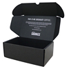 black corrugated cardboard packaging mailing small shipping box Customized box